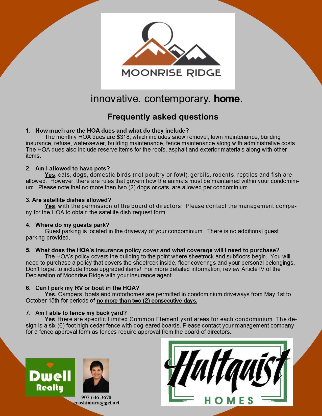 FAQ Moonrise Ridge
