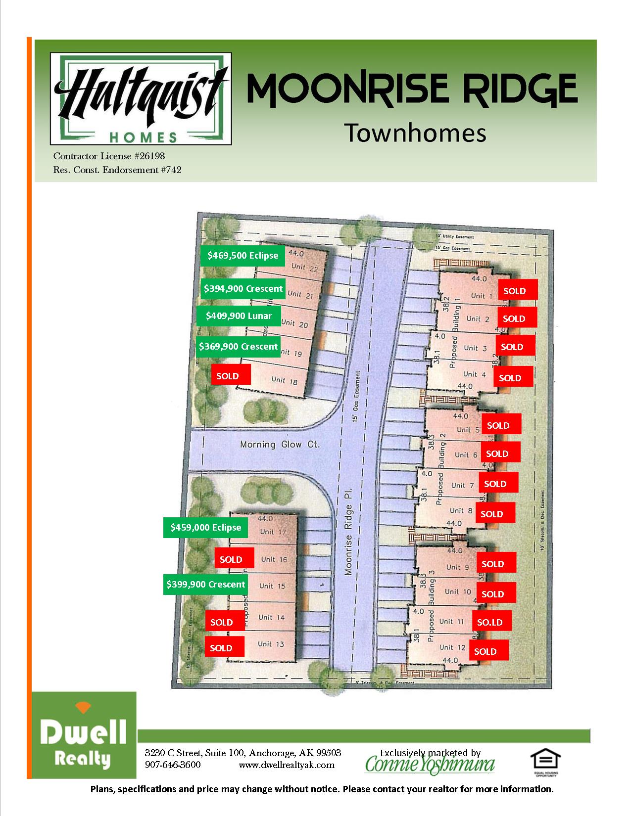 Moonrise Ridge Site Map as of 10-2-15
